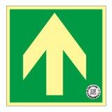 【床面用】蓄光式 避難口誘導標識 N床3 矢印