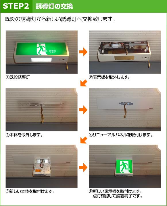 STEP2:誘導灯の交換
