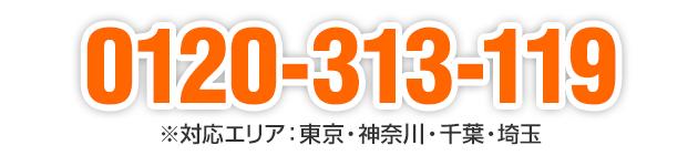 0120-313-119 ※対応エリア:東京・神奈川・千葉・埼玉
