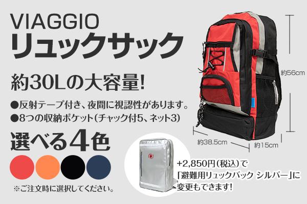 VIAGGIO リュック 約30Lの大容量