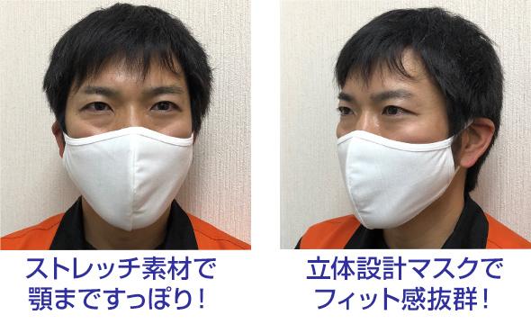 マスク装着時の画像